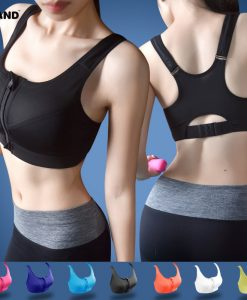 2016-Women-High-Impact-Running-Shockproof-Sports-Bra-Padded-Wirefree-With-Front-Zipper-Closure-And-Adjustable