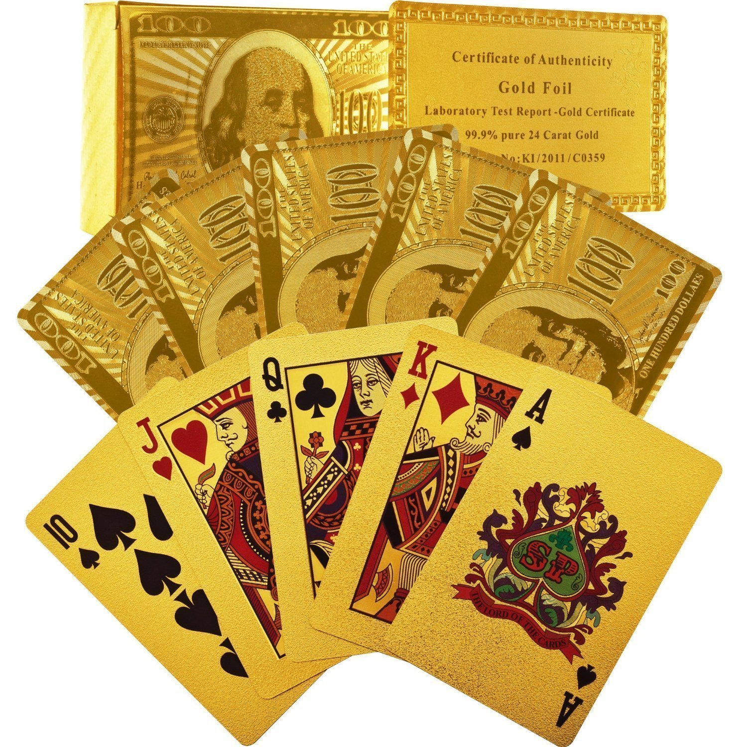 Gold Plated Playing Cards 50% OFF